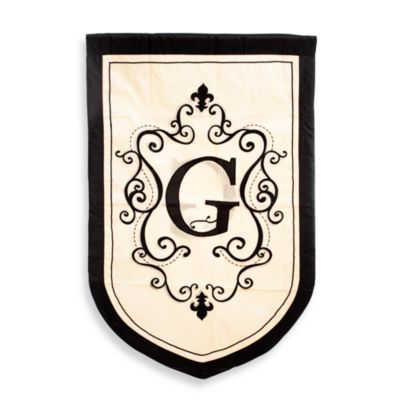 "Monogrammed Letter ""G"" Fleur Estate Outdoor Flag"