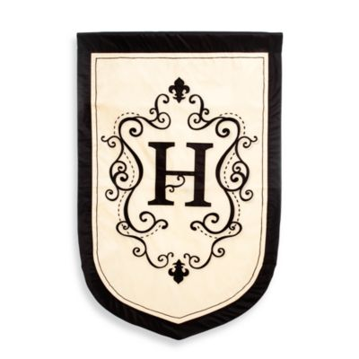 "Fleur Estate Monogrammed Letter ""H"" Outdoor Flag"