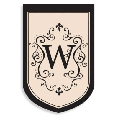 "Monogrammed Letter ""W"" Fleur Estate Outdoor Flag"