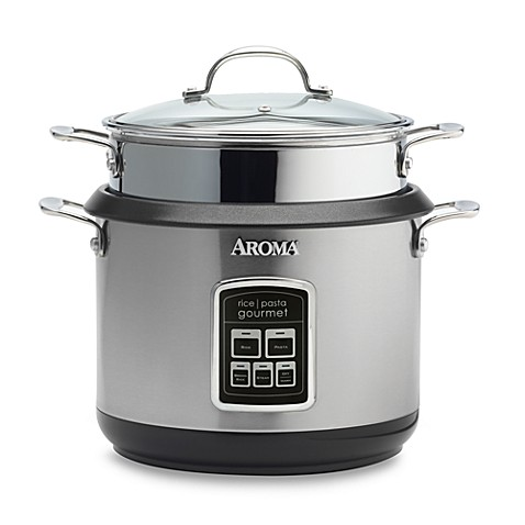 Aroma Forte 9-Cup Stainless-Steel Rice-and-Pasta Cooker
