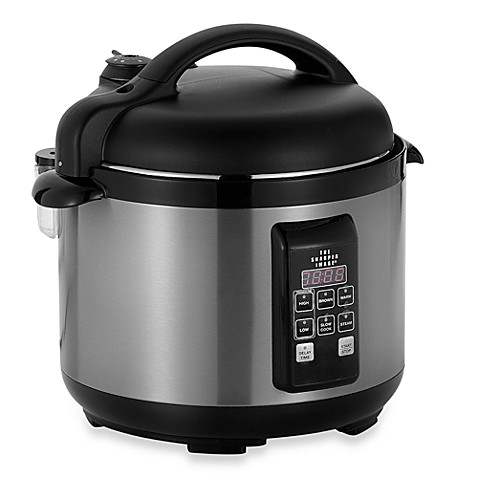 The Sharper Image® Stainless-Steel 5-Quart Pressure Cooker