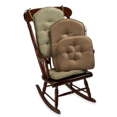 Klear Vu Spill Guard® The Gripper® Twillo Two-Piece Rocker Chair Pad Set in Thyme