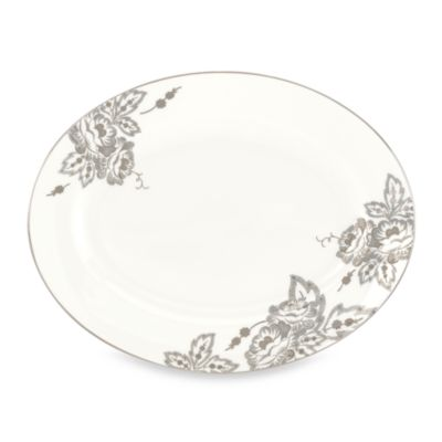L by Lenox® Floral Waltz 13-Inch Oval Platter