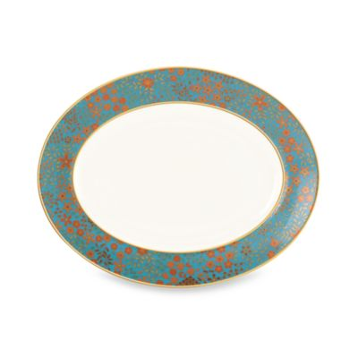 L by Lenox® Gilded Tapestry 13-Inch Oval Platter