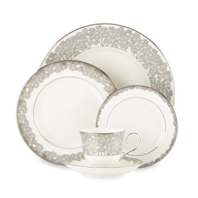 L by Lenox® Silver Bouquet 5-Piece Dinnerware Place Setting