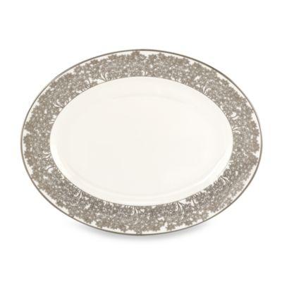 L by Lenox® Silver Bouquet 13-Inch Oval Platter