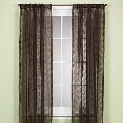 Central Park 84-Inch Window Sheer Panel in Brown