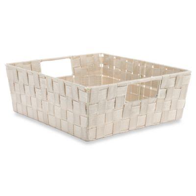 Shelf Woven Storage Tote in Cream