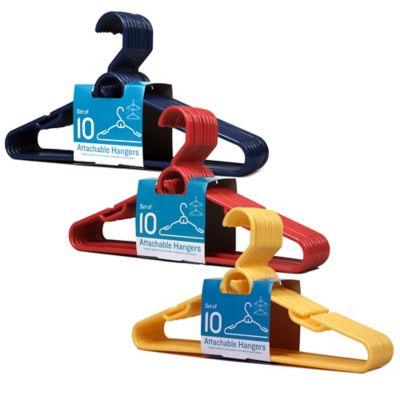 Attachable Hangers in White (Set of 10)