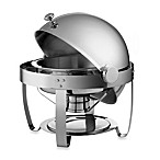 Tramontina® 6-Quart Round Stainless Steel Chaf in g Dish with Roll-Top Lid