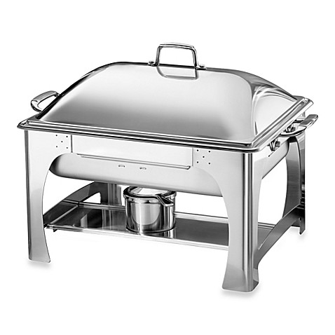 Tramontina® 6-Quart Rectangular Stainless Steel Chafing Dish with Dome Lid