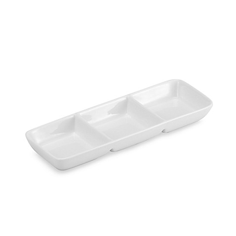 Oneida® Chef's Table™ Porcelain 3-Section 8-Inch Relish Tray in White