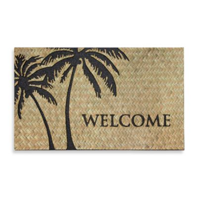 Silhouette Palm Door Mat