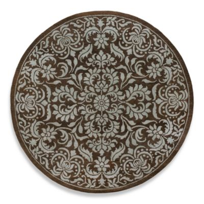 Bombay Dark 8' Round Brown Room Size Rug