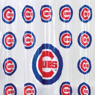MLB Chicago Cubs 72-Inch x 72-Inch PVC Frosted Shower Curtain