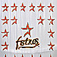 MLB Houston Astros 72-Inch x 72-Inch PVC Frosted Shower Curtain