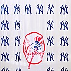 MLB New York Yankees 72-Inch x 72-Inch PVC Frosted Shower Curtain