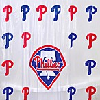 MLB Philadelphia Phillies 72-Inch x 72-Inch PVC Frosted Shower Curtain