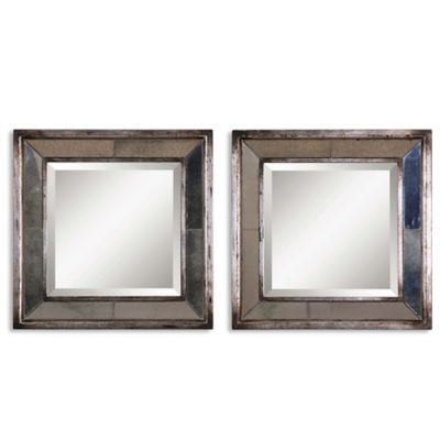 Uttermost Davion Squares Mirrors (Set of 2)