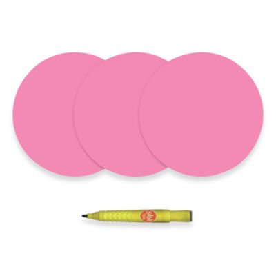 WallPops!® Removable Dry Erase Message Dot and Marker in Pink (Set of 3)