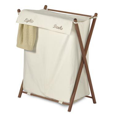 Double Sorter Folding Wood Hamper