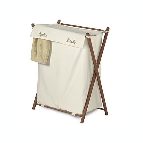 Buy double sorter folding wood hamper from bed bath beyond - Way laundry hamper ...