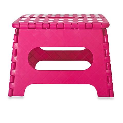 Easy Fold Step Stool By Kikkerland 174 Pink Bed Bath Amp Beyond
