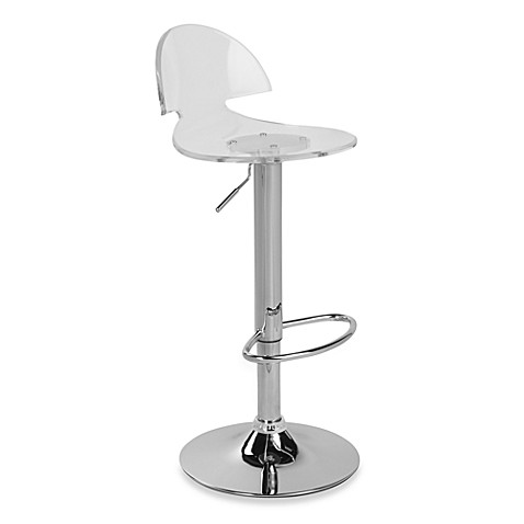 LumiSource Venti Acrylic Barstool in Clear