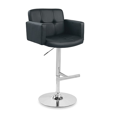 LumiSource Stout Barstool in Black