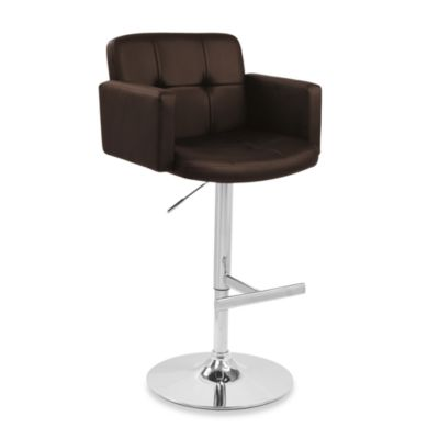 LumiSource Stout Barstool in Brown