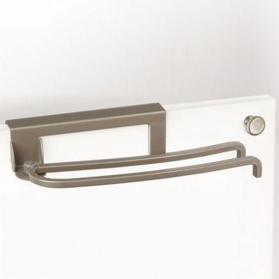 Lynk Over-the-Door Pivoting Towel Bar in Satin Nickel