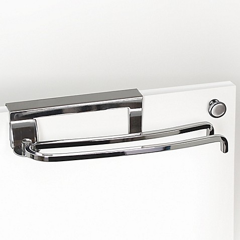 buy lynk over the door pivoting towel bar in chrome from bed bath beyond. Black Bedroom Furniture Sets. Home Design Ideas