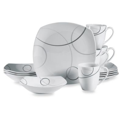 Mikasa® Geometric Circles 16-Piece Dinnerware Set