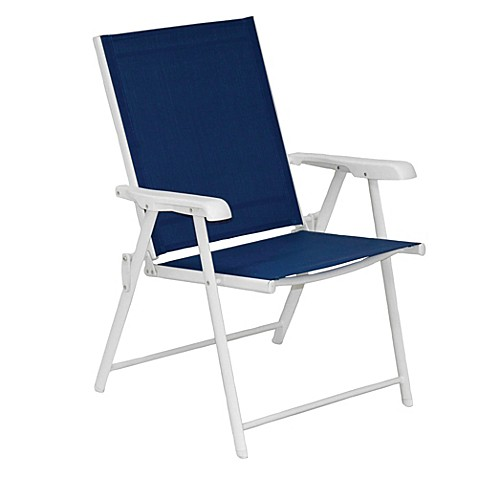 Blue Sling Folding Chair Set Of 2 Bed Bath Beyond