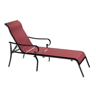 Oversized Adjustable Sling Chaise Lounge in Red