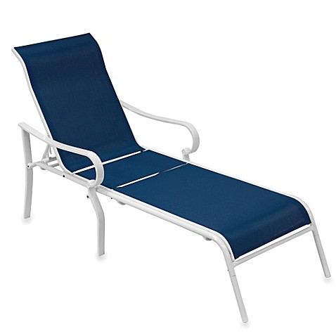 Buy blue sling chaise lounge from bed bath beyond for Blue sling chaise lounge