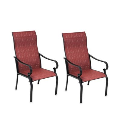 Oversized Sling Chairs in Red (Set of 2)