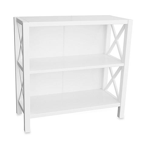 anna 2 shelf bookcase white bed bath beyond. Black Bedroom Furniture Sets. Home Design Ideas