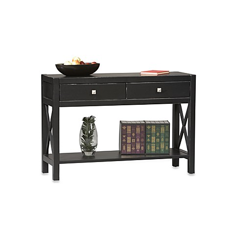 Linon Home Anna Console Table in Black