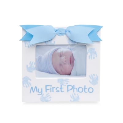 "Mud Pie® ""My First Photo"" Frame in Prince"