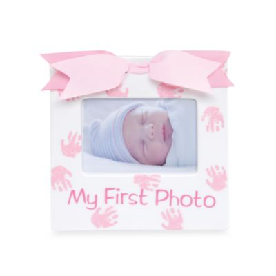 "Mud Pie® ""My First Photo"" Frame in Princess"