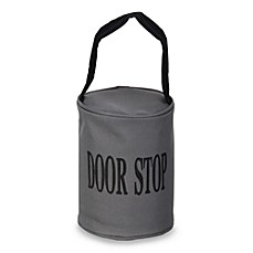 Gray Fabric Door Stopper with Handle