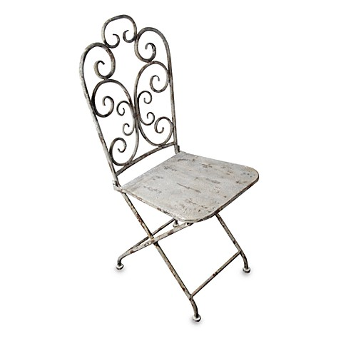 Aged Metal Chair
