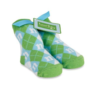 "Mud Pie™ Blue Initial ""G"" Baby Socks"