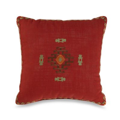 16 Red Square Pillow