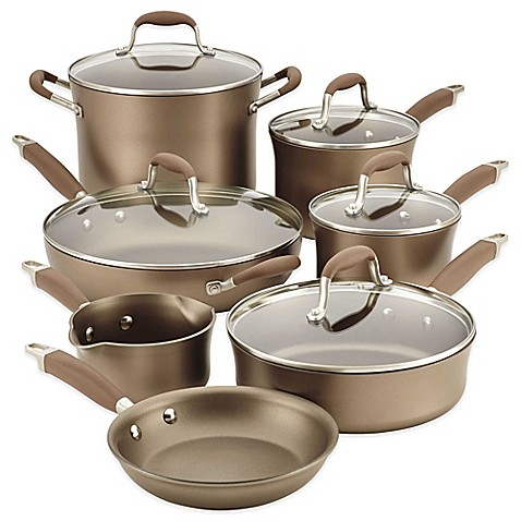 Anolon® Advanced Umber 12-Piece Hard Anodized Nonstick Cookware Set