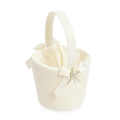 Cathy's Concepts Ivory Beach Flower Basket
