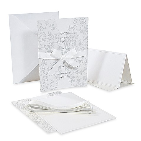 Cathy's Concepts White Jacket Invitation (Set of 50)