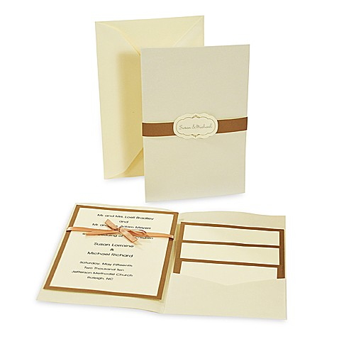 Cathy's Concepts Ivory and Copper Invitation Kit (Set of 25)