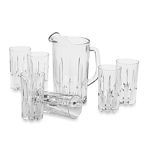 Excalibur 7-Piece Glass Beverage Set